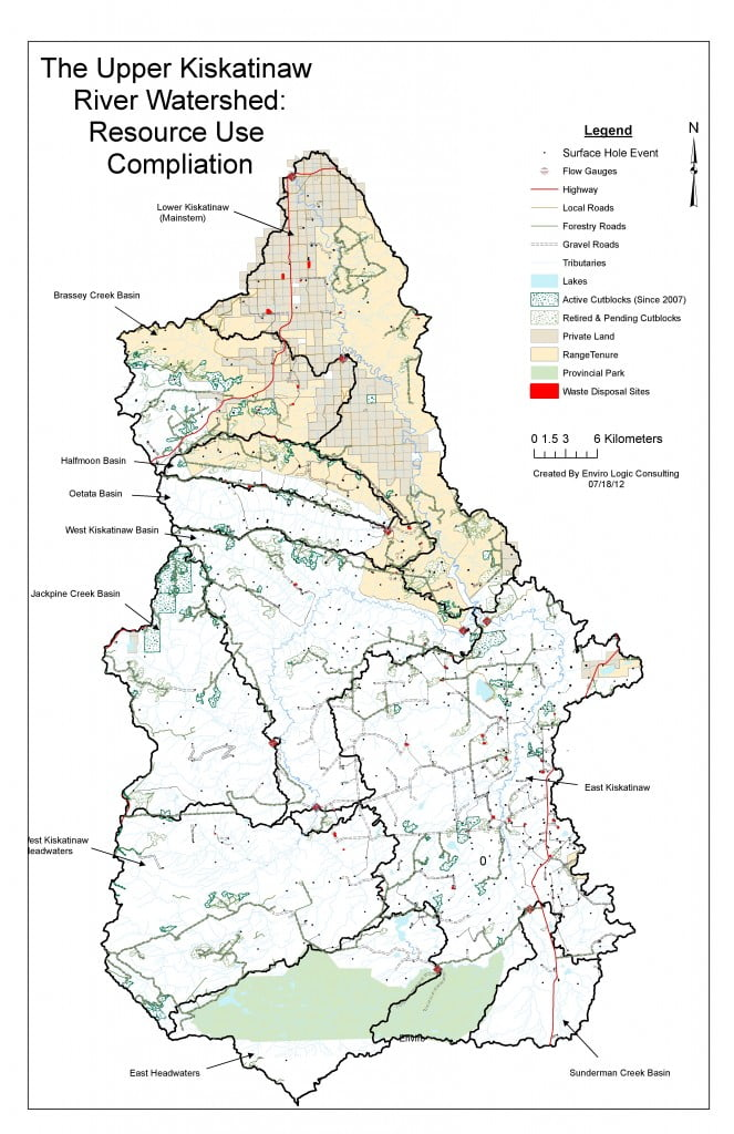 Compilation Map of the Kiskatinaw Watershed