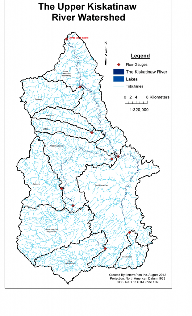 Kiskatinaw Watershed Map  (Hydro and Arras)